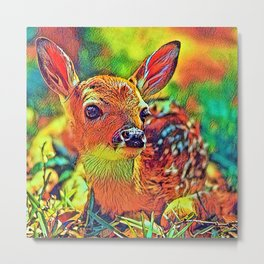 AnimalColor_Deer_002_by_JAMColors Metal Print
