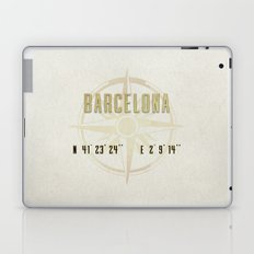 Barcelona - Vintage Map and Location Laptop & iPad Skin