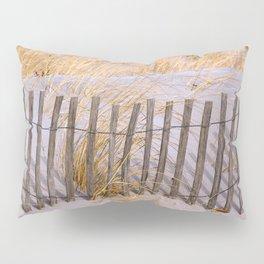 Scenic Beach Fence Pillow Sham