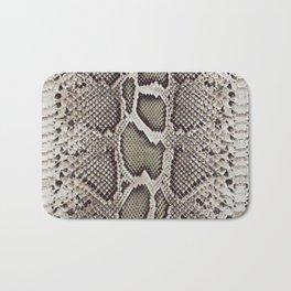 Faux Boa Constrictor Snake Skin Design Bath Mat