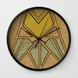Arts & Crafts style tulip Wall Clock