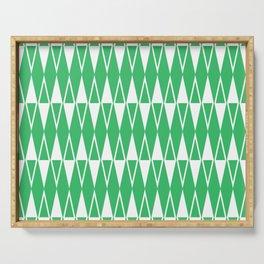 Mid Century Modern Diamond Pattern Green 234 Serving Tray