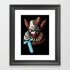 Clowns are Evil Framed Art Print