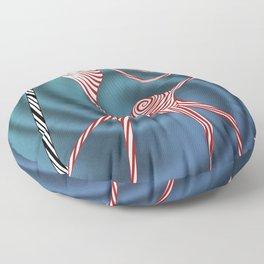 Peppermint Kitty Cane Floor Pillow