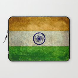 Flag of India - Grungy Vintage Laptop Sleeve