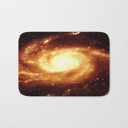 Golden Spiral Galaxy Bath Mat