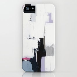 "No. 31 - Print of Original Acrylic Painting on canvas - 16"" x 20"" - (White and multi-color) iPhone Case"