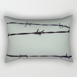 Barbed Wire Rectangular Pillow