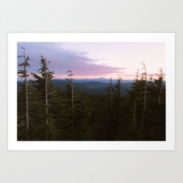 Mount Hood Sunset Art Print