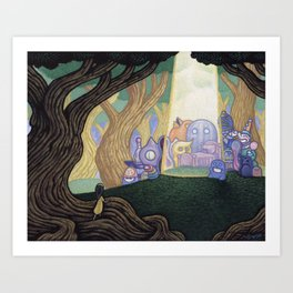 There She Is Art Print