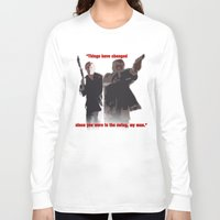 caleb troy Long Sleeve T-shirts featuring Caleb and Fat Daniel by Body in the Window Seat