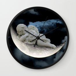 Angel Cherub Child Moon Blue Child's Room Art Bedroom Decor A401 Wall Clock