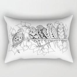 NOT Angry Birds - Zentangle Illustration Rectangular Pillow