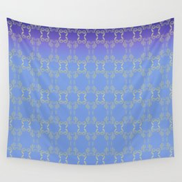 Hand drawn Seed Pods golden yellow blues Wall Tapestry