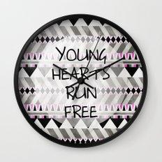Young Hearts Wall Clock