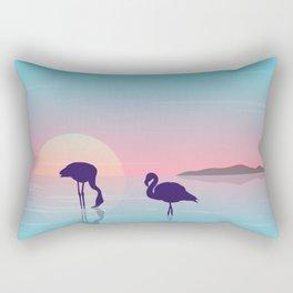 Flamingo Silhouette Beauty Art Rectangular Pillow