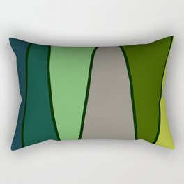 Green Abstract Pattern Turtle Rectangular Pillow