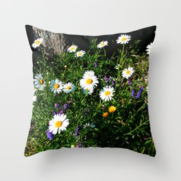 Wildflowers by the River Throw Pillow