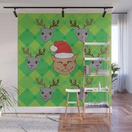Christmas Kittens Wall Mural