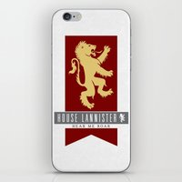 lannister iPhone & iPod Skins featuring House Lannister Sigil by P3RF3KT