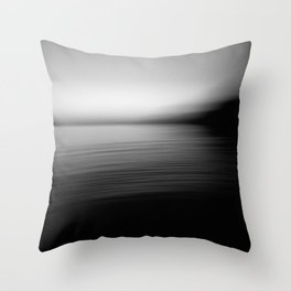 Flow (B&W) Throw Pillow