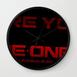 Are you One One 6 Black Wall Clock