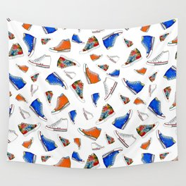 Different sneakers pattern Wall Tapestry