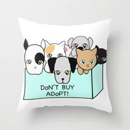 Adopt, don't shop! Throw Pillow