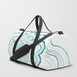Tree Rings of Turquoise Duffle Bag