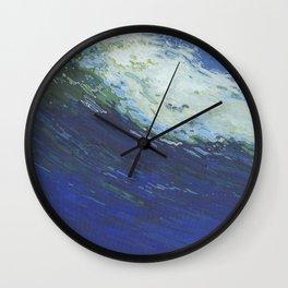 Flexing Ocean Wave Wall Clock