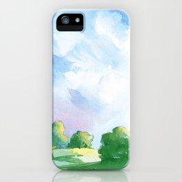 Landscape watercolor iPhone Case