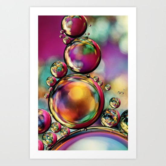 Explosion of Colour Art Print