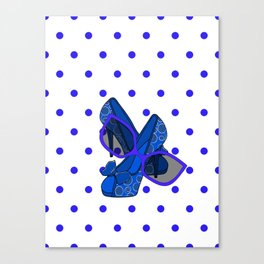 Style In Blue Canvas Print