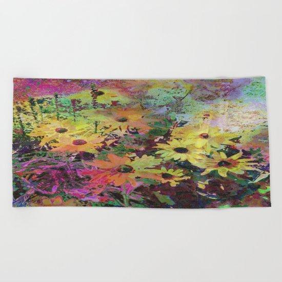 Gert's Watercolor Daisies Beach Towel