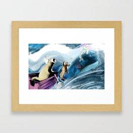 Ferret on the boat Natacha the Ferret Framed Art Print