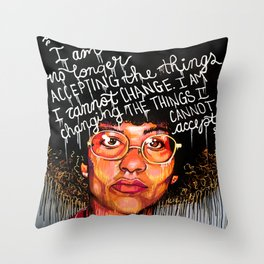 Angela Davis Throw Pillow