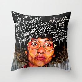 Ms. Davis Throw Pillow