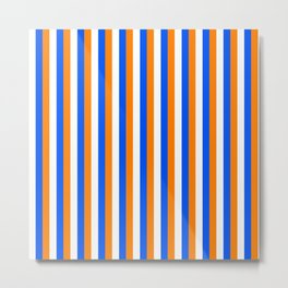 Team Colors 4... orange , blue  and white Metal Print