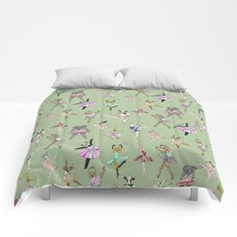 Animal Ballet Hipsters - Green Comforters