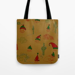Cat Western Christmas Edition Tote Bag