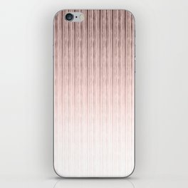 Pink-beige stripes. iPhone Skin