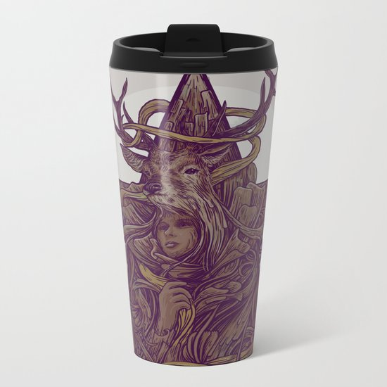 Beautiful Deer Metal Travel Mug