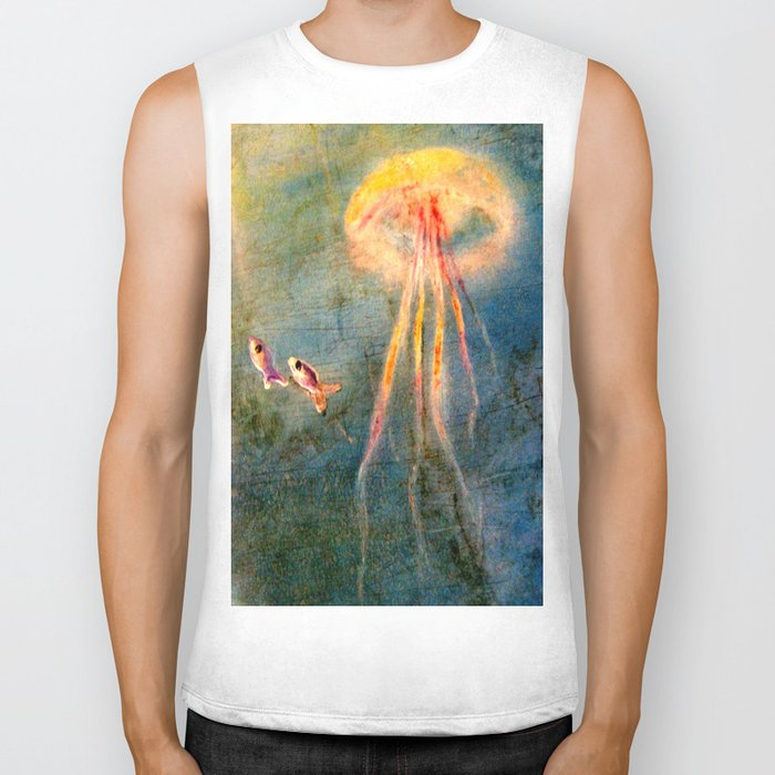 Glow of the jellyfish Biker Tank