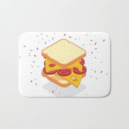 sandwich illustration Bath Mat