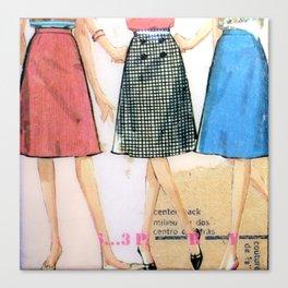 Three Skirts  Canvas Print