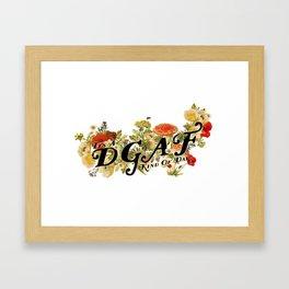 DGAF Day Framed Art Print