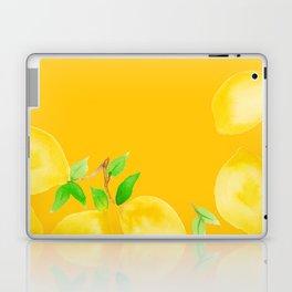 Lemons on Mustard Yellow Laptop & iPad Skin