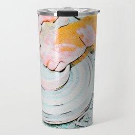 Hands of the ceramist craftsman Travel Mug