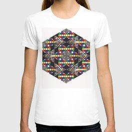 """""""Integration"""" Detail Hexagon T-shirt"""
