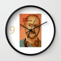 chad wys Wall Clocks featuring 50 Artists: Chad Beroth by Chad Beroth